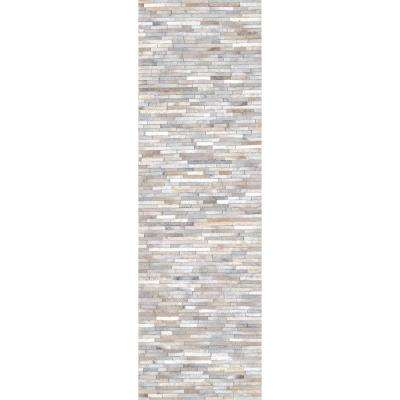 Clarity Patchwork Cowhide Beige 2 ft. 6 in. x 8 ft. Runner