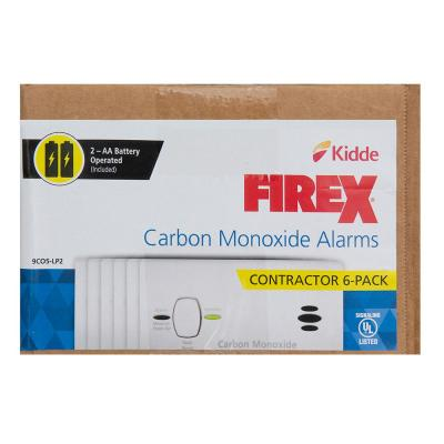 FireX Battery Operated Carbon Monoxide Detector (6-Pack)