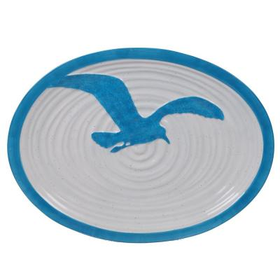 Natural Coast Multi-Colored 16 in. Earthenware Oval Platter