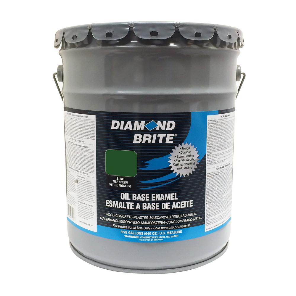 Diamond Brite Paint 5 gal. Tile Green Oil Base Enamel Interior/Exterior Paint