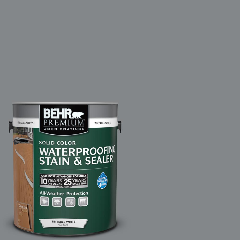 1 gal. #N500-5 Magnetic Gray Color Solid Waterproofing Stain and Sealer