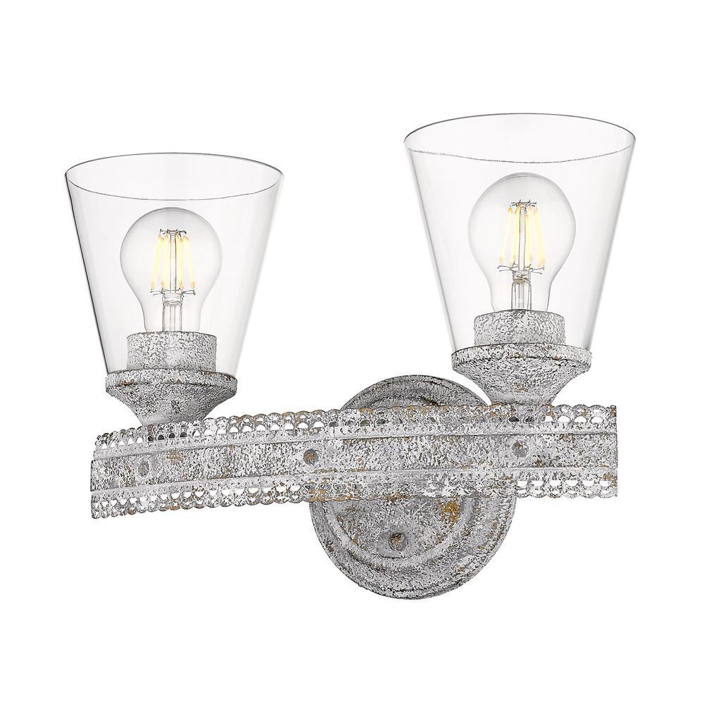 Ferris OY 5.25 in. 2-Light Oyster Vanity Light