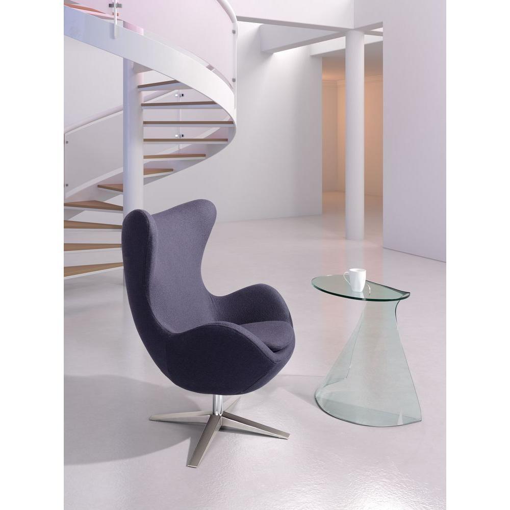 Skien Gray Polyfiber Arm Chair