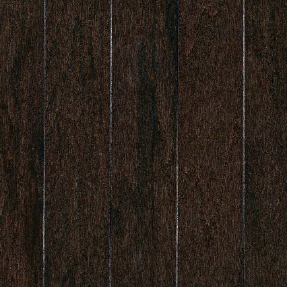 Mohawk Take Home Sample Pastoria Oak Chocolate Engineered Hardwood Flooring 5 In X