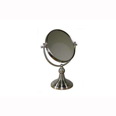 5 in. x 14 in. Free Standing Round X3 Magnify Makeup Mirror
