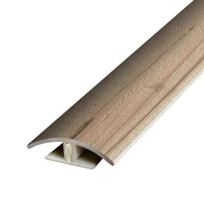 Antique Lumber Beige and Grey .37 in. Thick x 1.75 in. Wide x 78.7 in. Length Vinyl 2-in-1 Molding