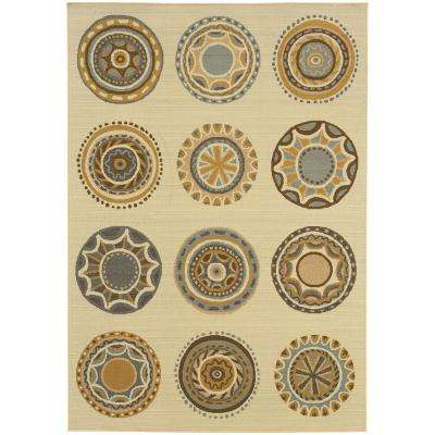 Celestial Cream 4 ft. x 6 ft. Indoor/Outdoor Area Rug