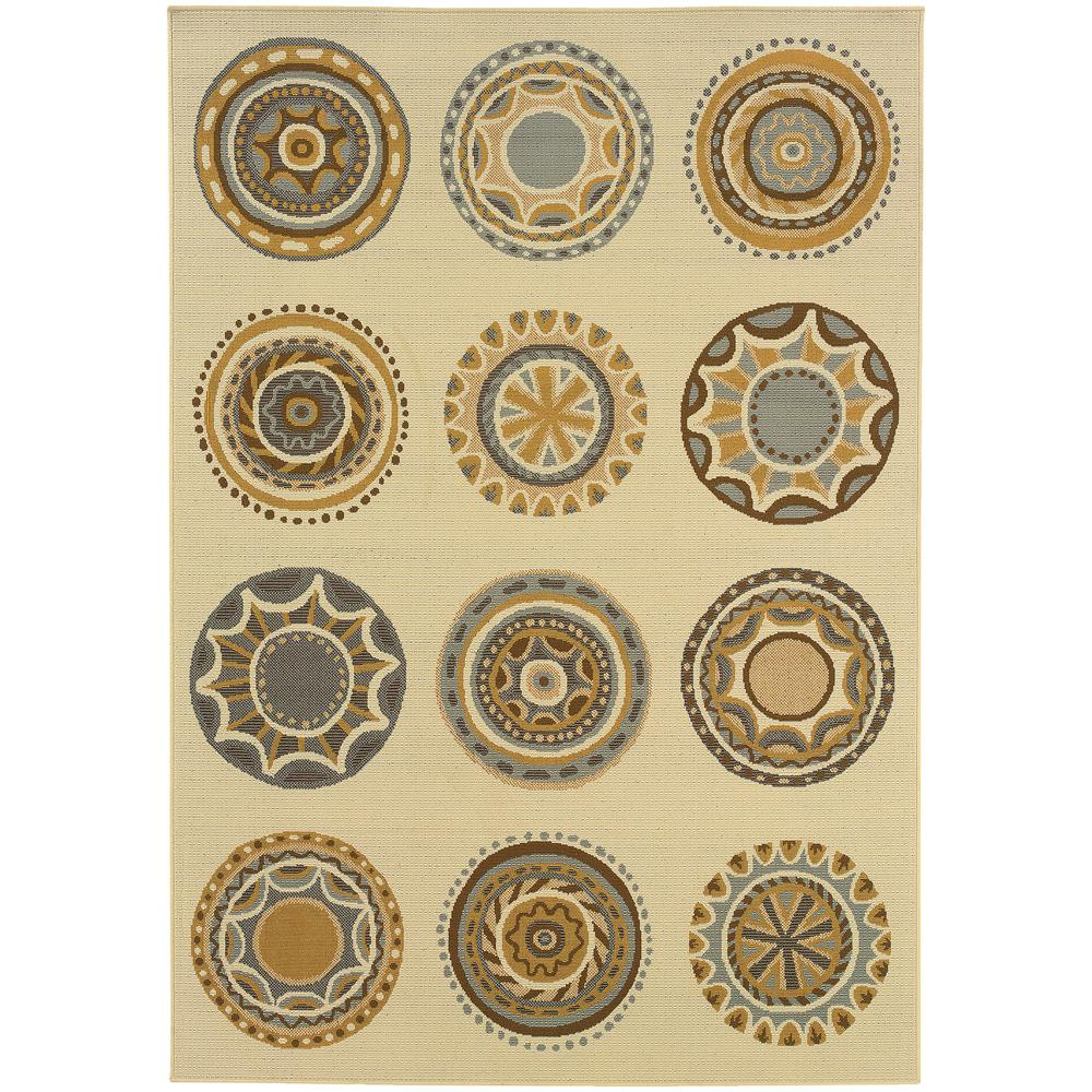 Celestial Cream 8 ft. x 11 ft. Indoor/Outdoor Area Rug