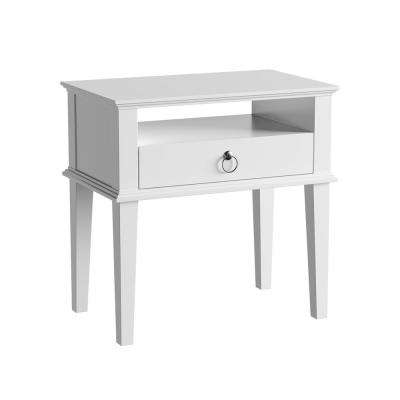 Vienna 1-Drawer White Nightstand