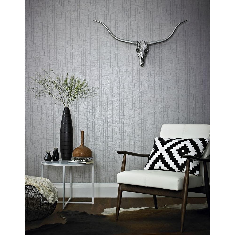 Savanna Taupe Removable Wallpaper Sample