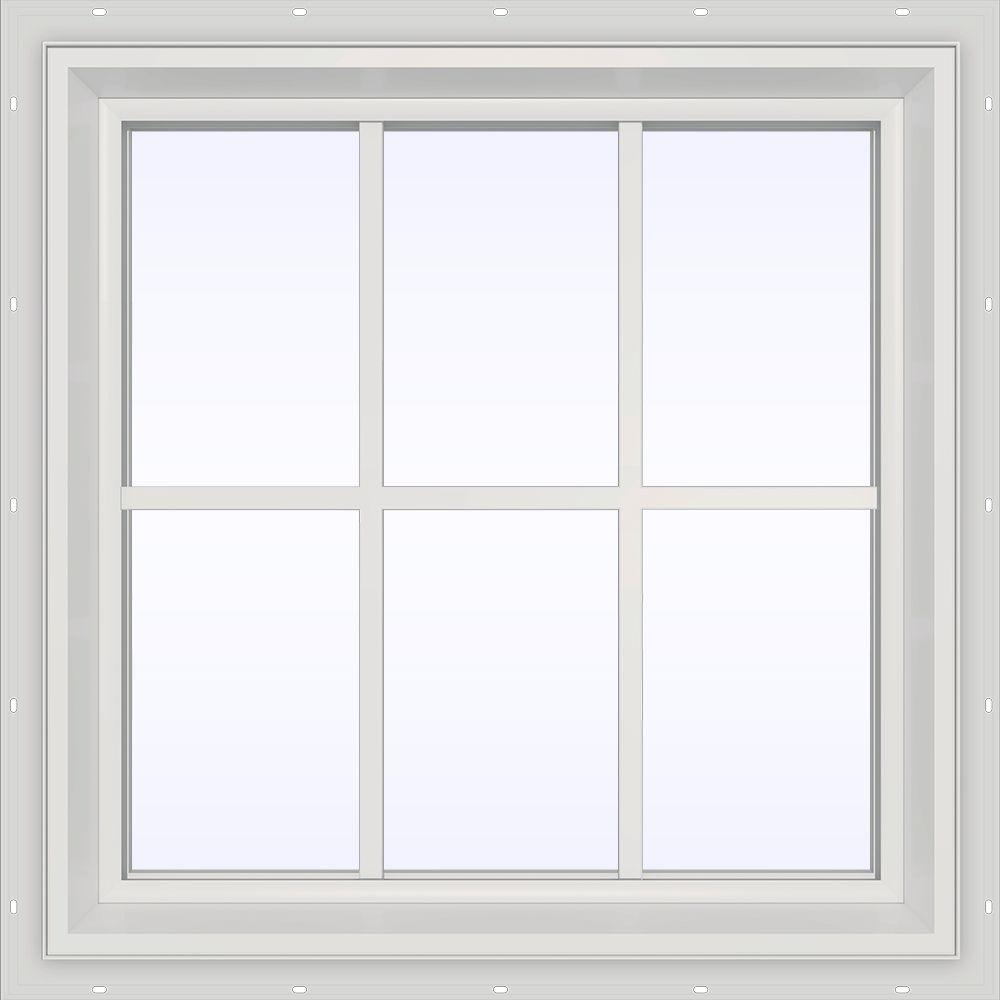 35.5 in. x 23.5 in. V-2500 Series Fixed Picture Vinyl Window
