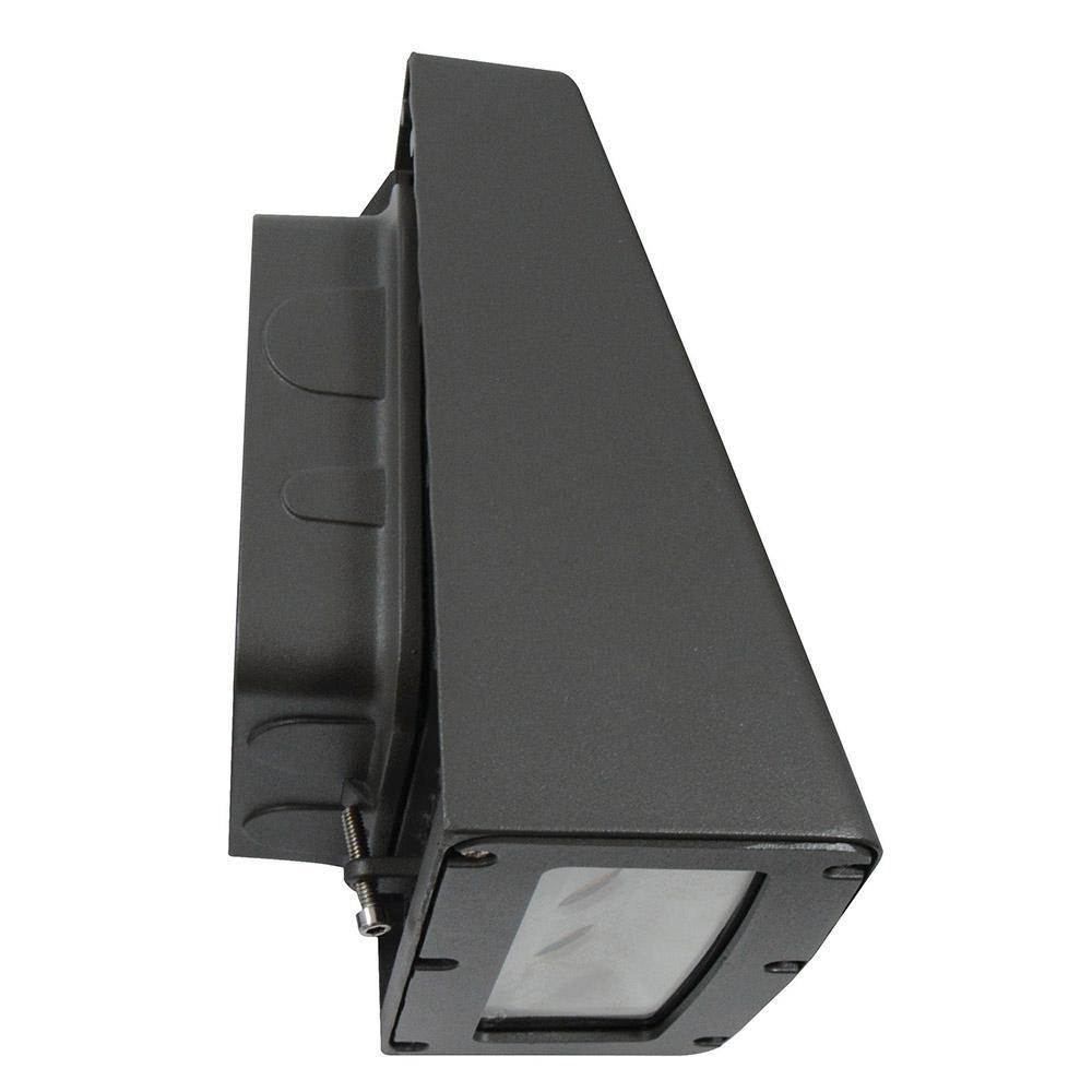 20-Watt Bronze Integrated LED Outdoor Wall Pack Light