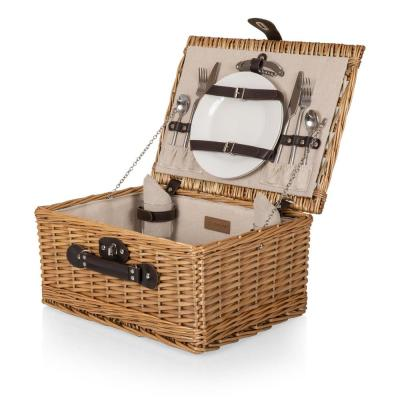 Classic Red and White Check Picnic Basket