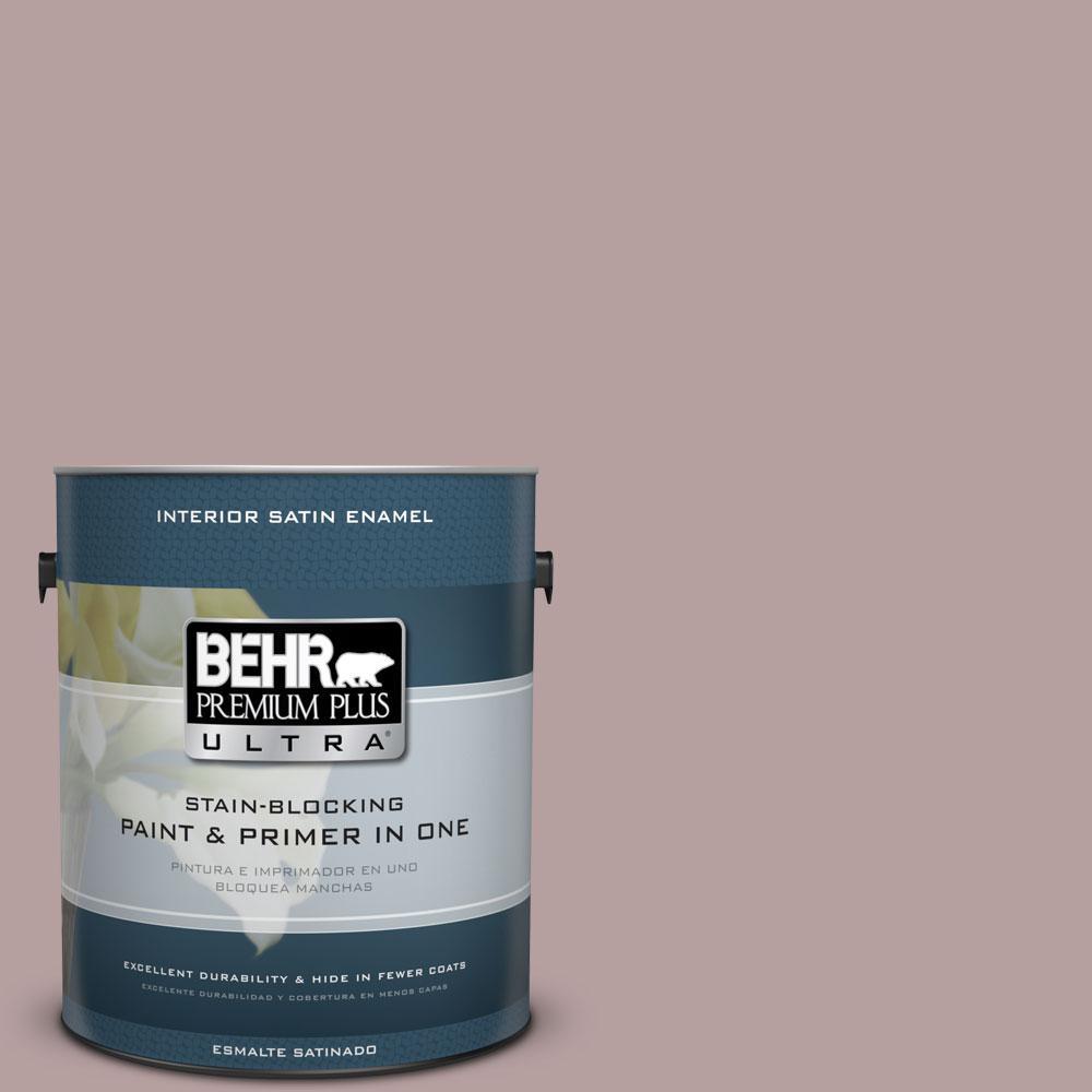 1-gal. #N130-4 Plum Taupe Satin Enamel Interior Paint