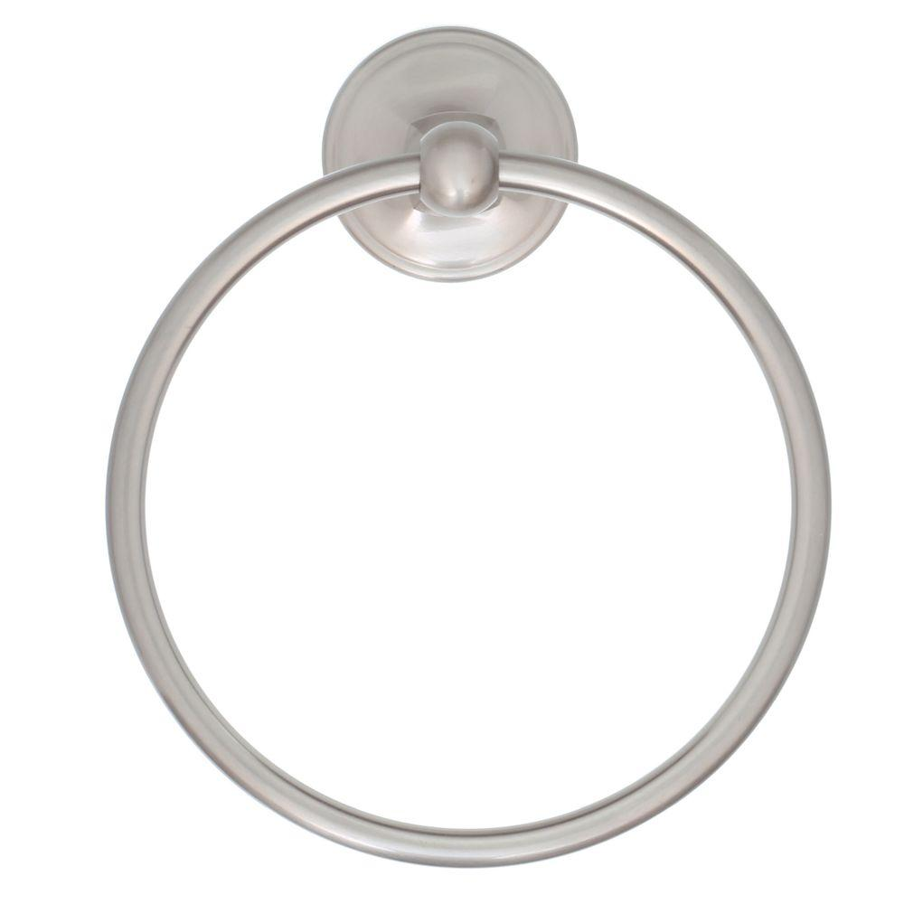Portman Towel Ring in Brushed Nickel