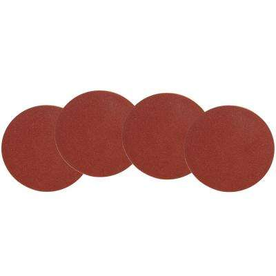12 in. 80-Grit Adhesive-Backed Disc Sandpaper (4-Pack)
