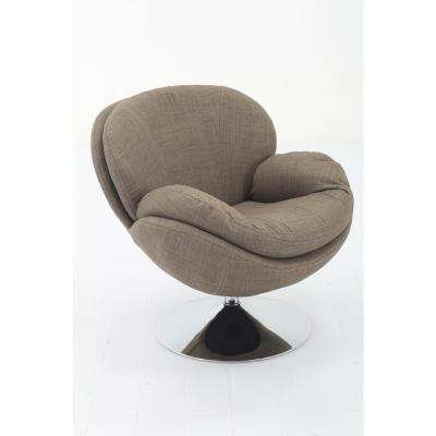 Comfort Chair Scoop Khaki Fabric Leisure Chair