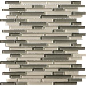 Lucente Pellestrina Gloss/Matte Mix 12.05 in. x 12.05 in. x 8mm Glass Mesh-Mounted Mosaic Tile (1.07 sq. ft.)