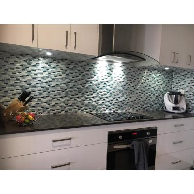 Como Marrone 10 in. W x 10 in. H Peel and Stick Self-Adhesive Decorative Mosaic Wall Tile Backsplash (5-Tiles)