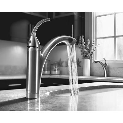 Forte Single-Handle Pull-Out Sprayer Kitchen Faucet In Brushed Chrome