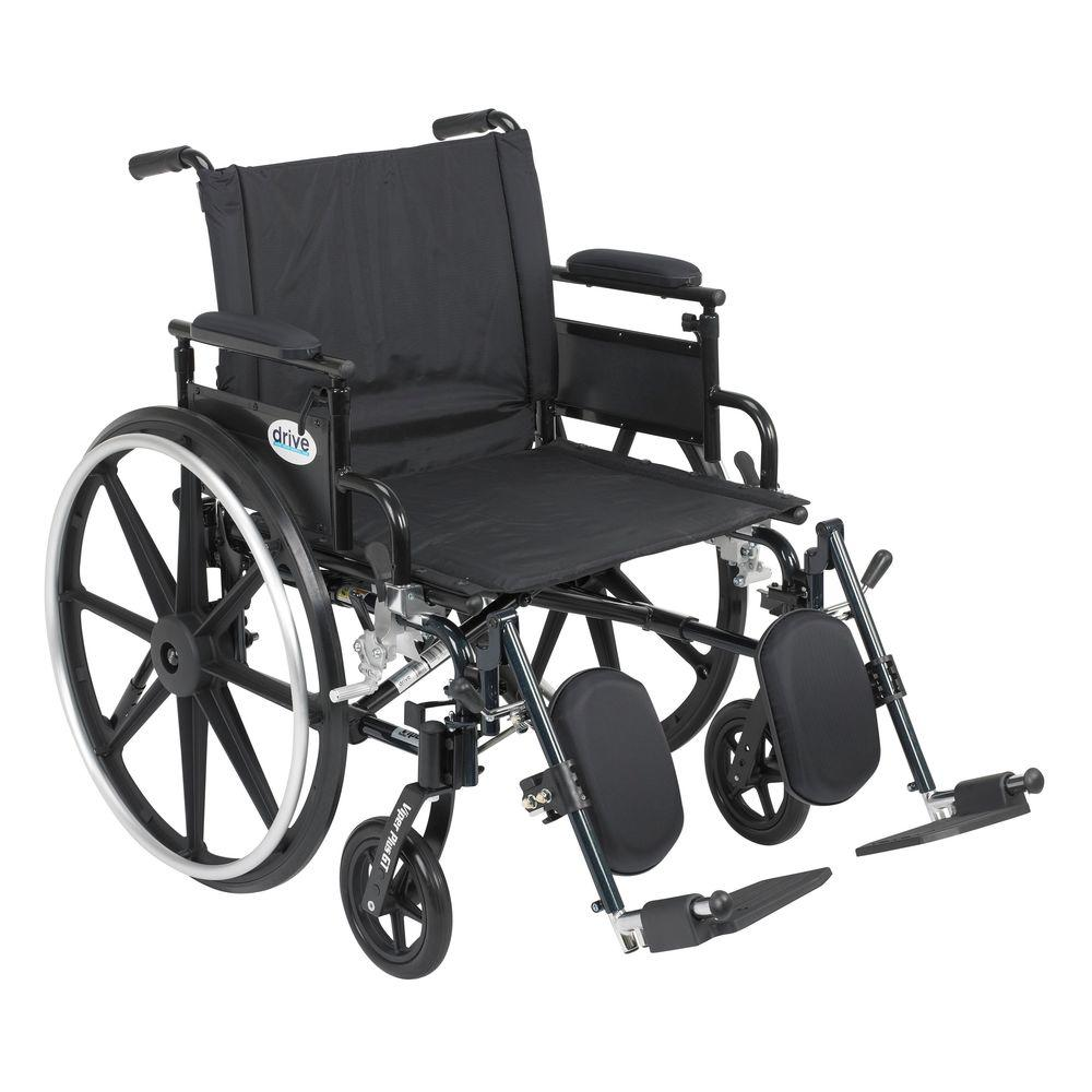 Drive Viper Plus GT Wheelchair with Removable Flip Back Adjustable Desk Arm and Elevating Legrest