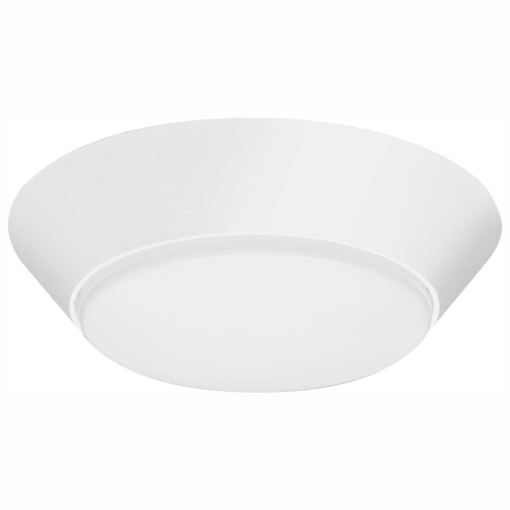 Lithonia Lighting Versi Lite 9-Watt Textured White Integrated LED Flush Mount