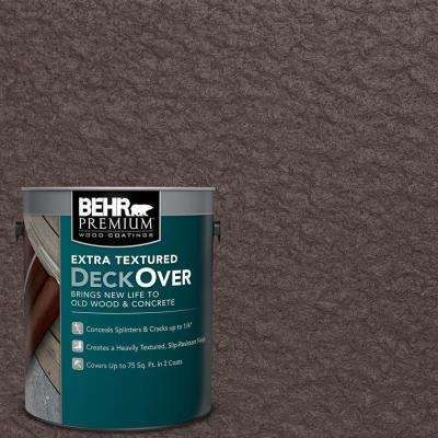 1 gal. #PFC-25 Dark Walnut Extra Textured Solid Color Exterior Wood and Concrete Coating