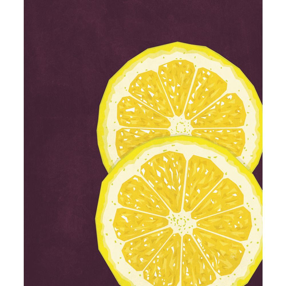 Creative Gallery 16 in. x 20 in. Large Sliced Lemon Acrylic Wall Art ...