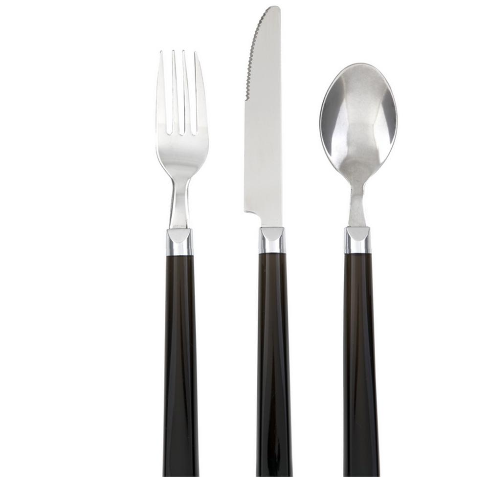 Palmdale12-Piece Black Flatware Set
