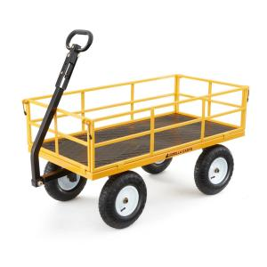 Deals on Gorilla Carts 1200 lbs. Heavy Duty Steel Utility Cart