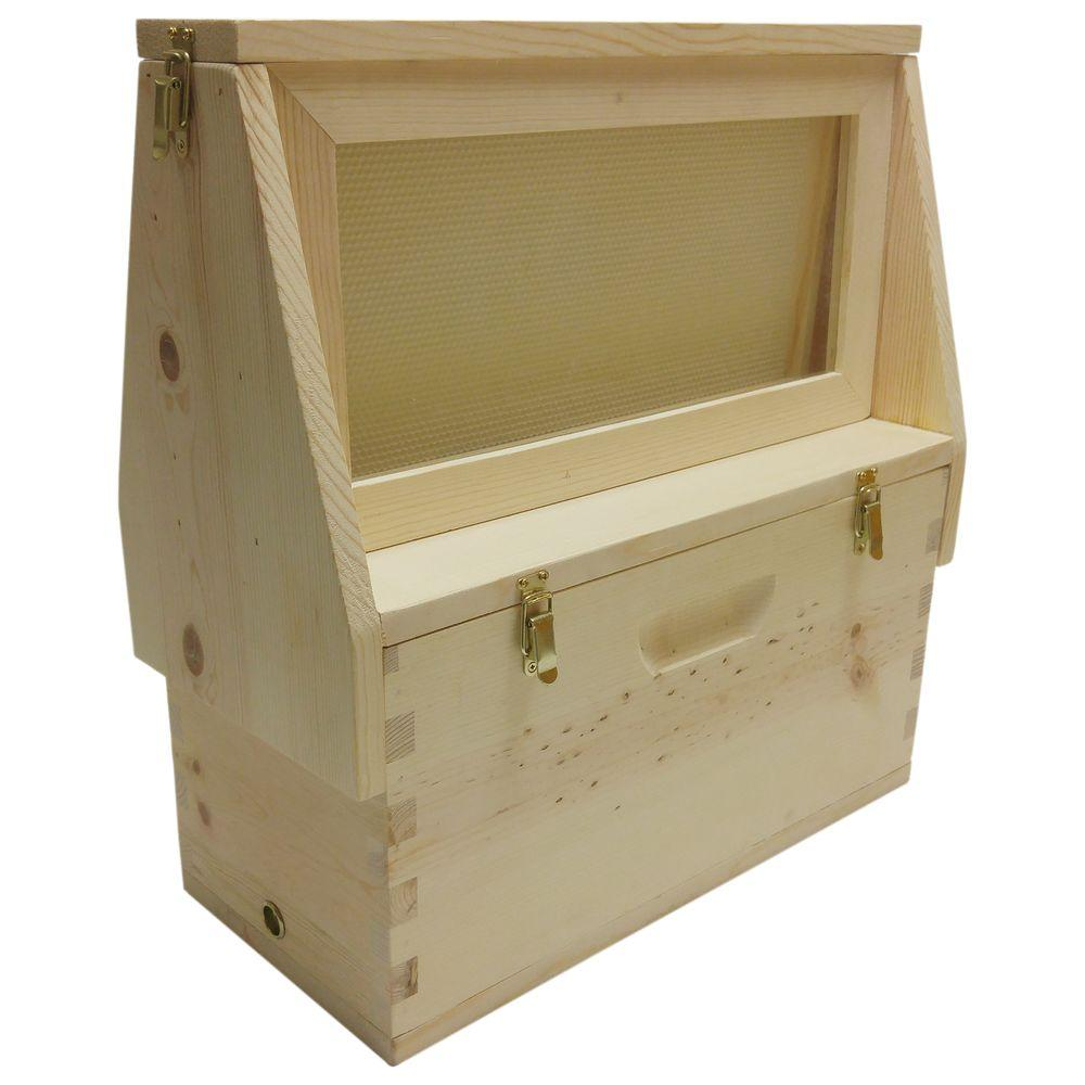 HARVEST LANE HONEY 21.5 in. x 22 in. x 9.5 in. Bee Observation Hive ...