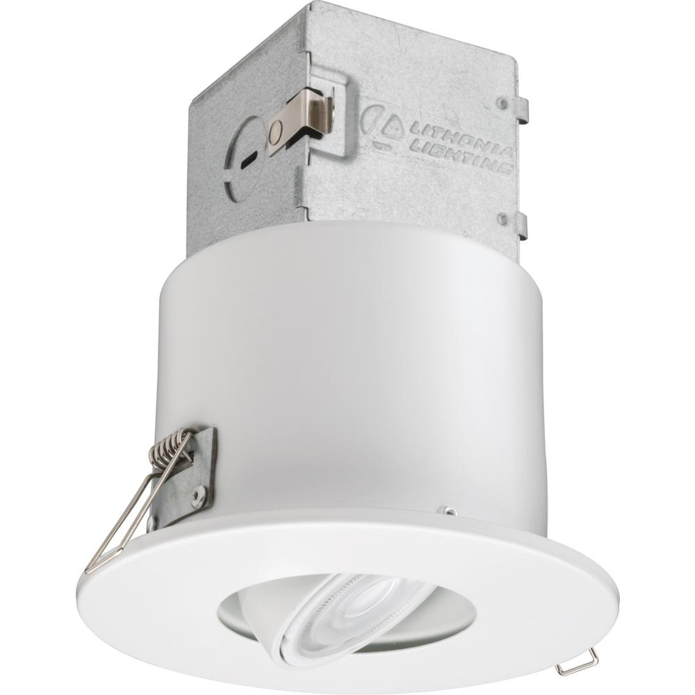 Lithonia Recessed Led Trim: Lithonia Lighting Lithonia OneUp 4 In. White Integrated