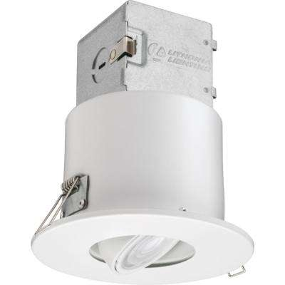 Lithonia OneUp 4 in. White Integrated LED Recessed Kit