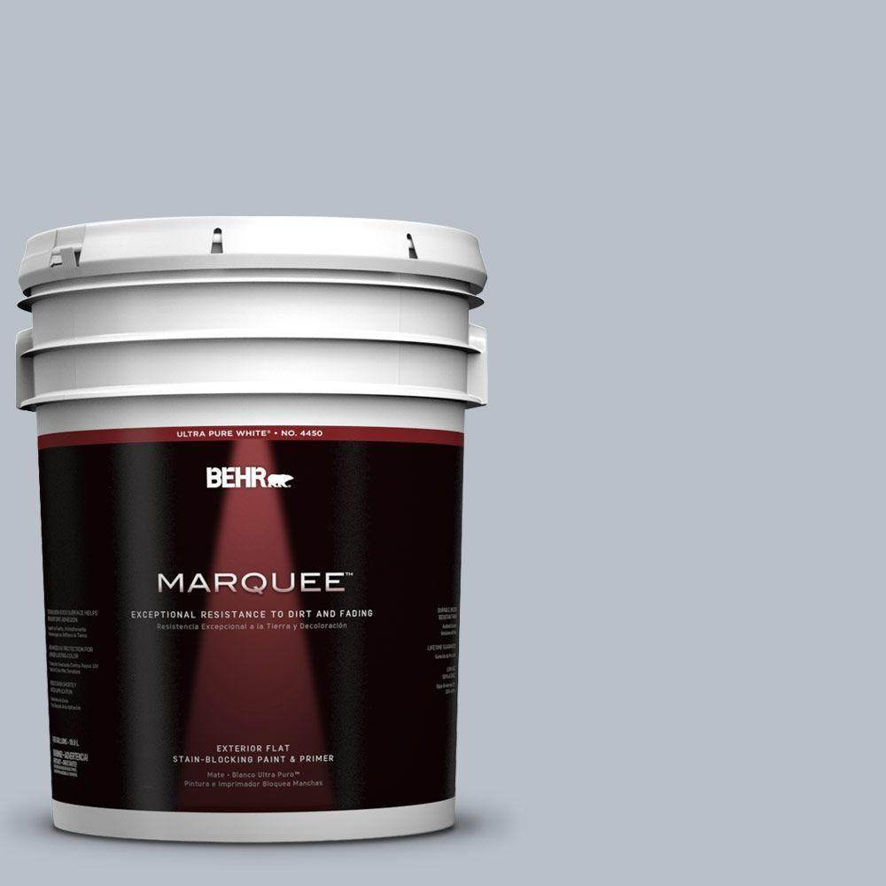 BEHR MARQUEE 5-gal. #750E-3 Skyline Steel Flat Exterior Paint