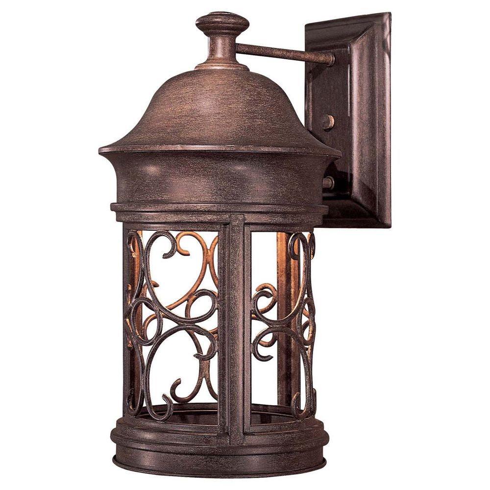 Sage Ridge 1-Light Vintage Rust Outdoor Wall Lantern Sconce
