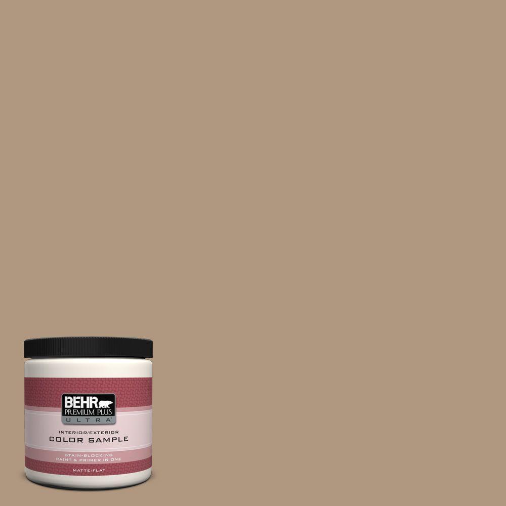 BEHR Premium Plus Ultra Home Decorators Collection 8 oz. #HDC-WR14-3 Roasted Hazelnut Flat/Matte Interior/Exterior Paint Sample