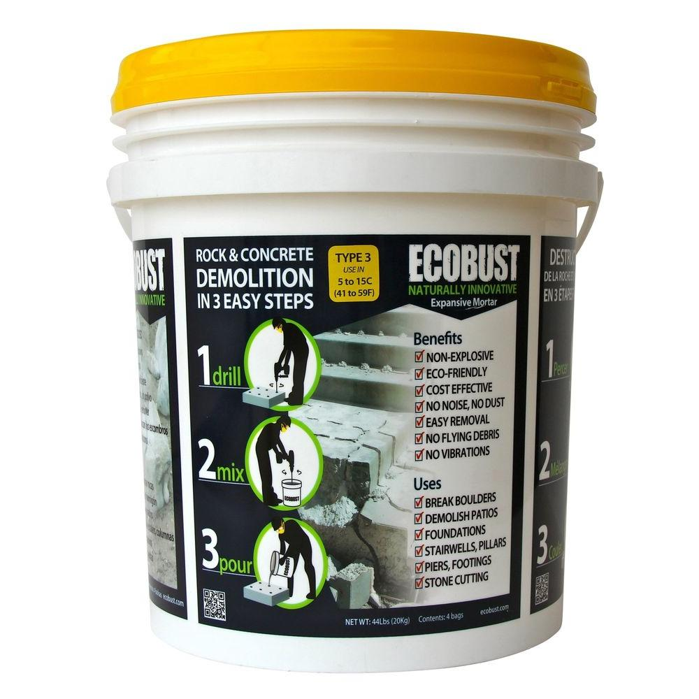 ECOBUST 44 lb. Concrete Cutting and Rock Breaking Non-Combustive Demolition Agent Type 3 (41F - 59F)