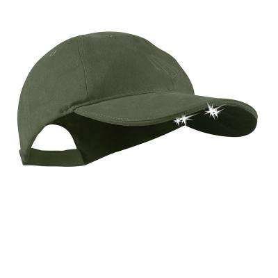 POWERCAP LED Hat 25/10 Ultra-Bright Hands Free Lighted Battery Powered Headlamp Olive Unstructured Cotton