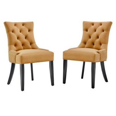 Cognac Dining Chairs Kitchen Dining Room Furniture The Home Depot