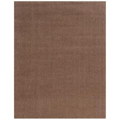 Checkmate Taupe/Walnut 6 ft. x 8 ft. Indoor/Outdoor Area Rug
