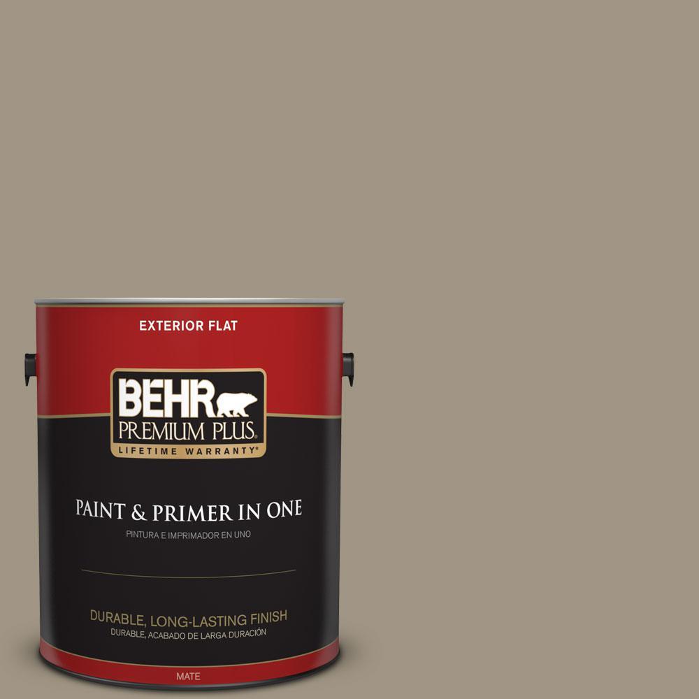BEHR Premium Plus 1-gal. #BNC-24 Shadow Taupe Flat Exterior Paint
