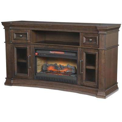 Oak Park 60 in. Freestanding Electric Fireplace TV Stand in Coffee