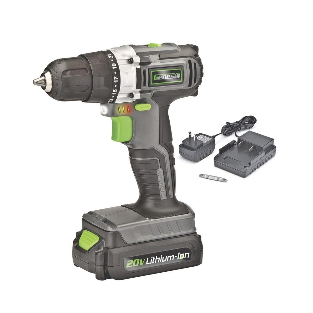 Genesis 20-Volt Lithium-Ion 3/8 in. Cordless Drill
