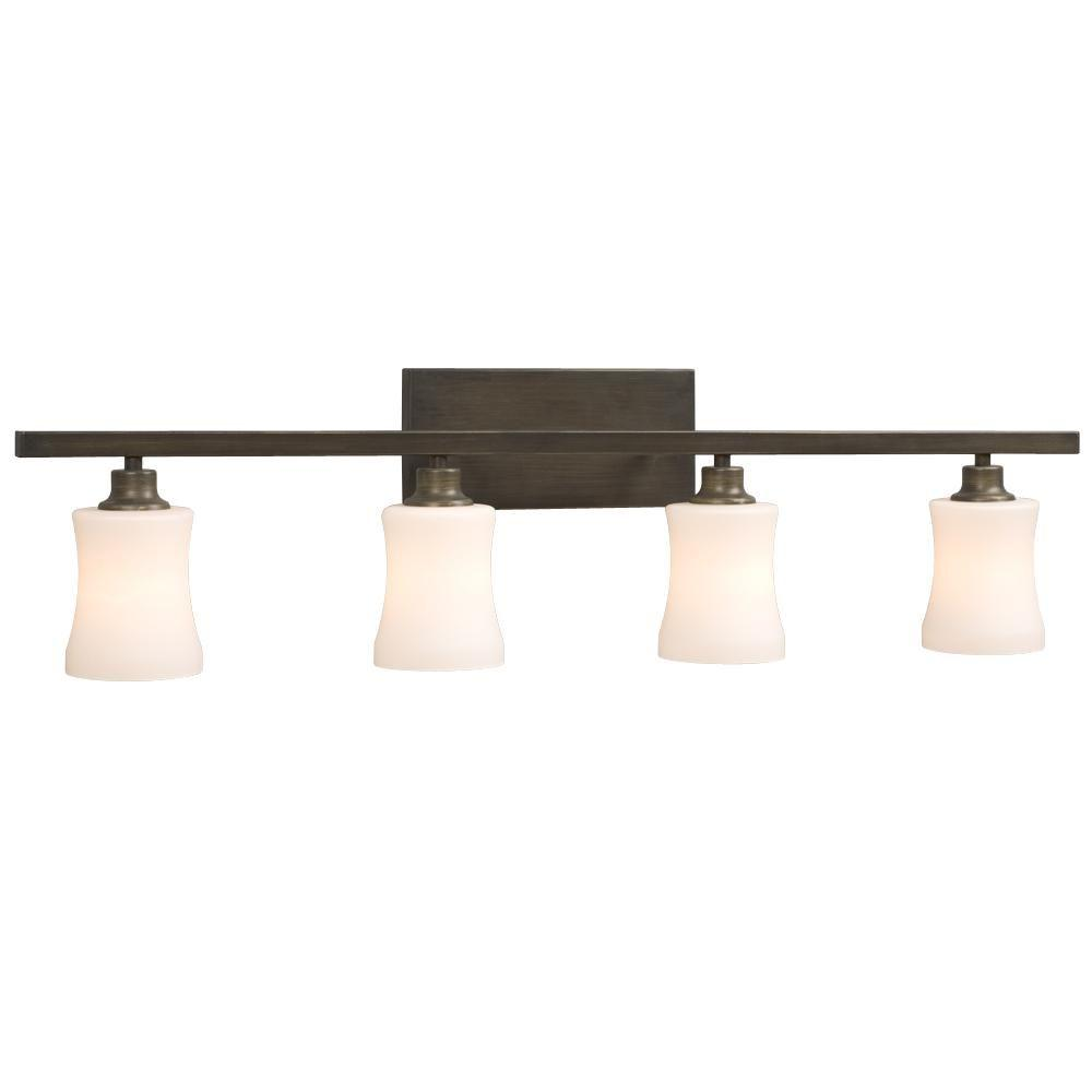 Filament Design Negron 4-Light Oil-Rubbed Bonze Incandescent Bath Vanity Light