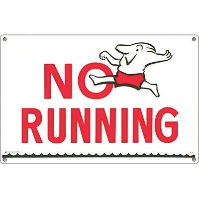 Sign for Residential or Commercial Swimming Pools, No Running