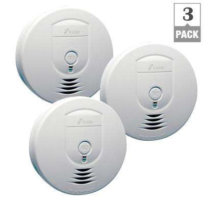 Battery Operated Smoke Detector with Wire-Free Interconnect (3-pack)