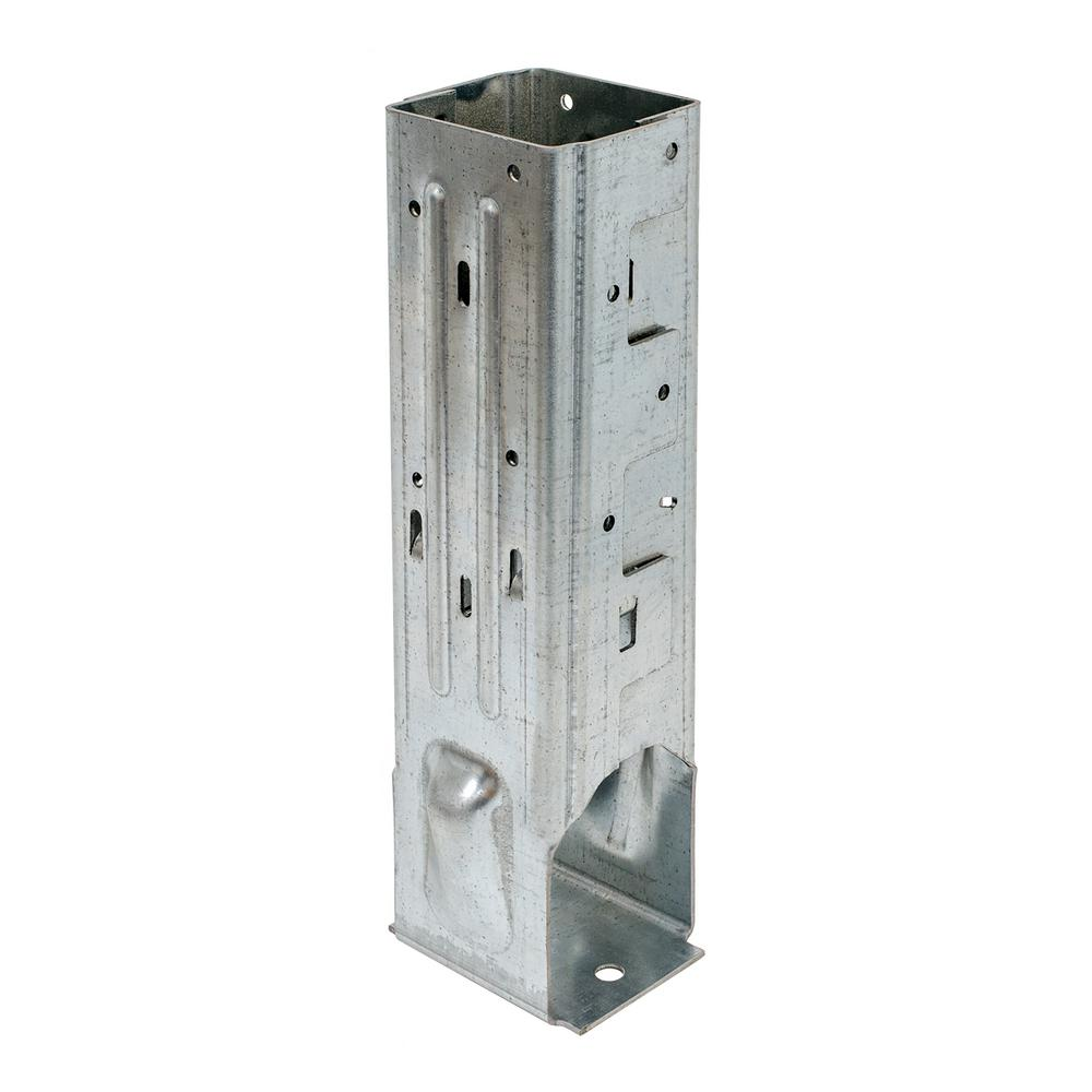 Simpson Strong-Tie MPBZ ZMAX Galvanized Moment Post Base for 4x4 Nominal Lumber with SDS Screws