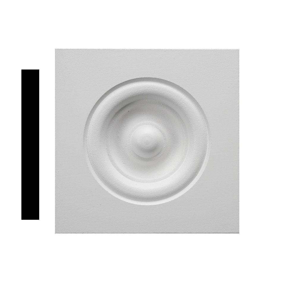 3/4 in. x 3-1/2 in. x 3-1/2 in. Primed MDF Rosette Corner Block Moulding