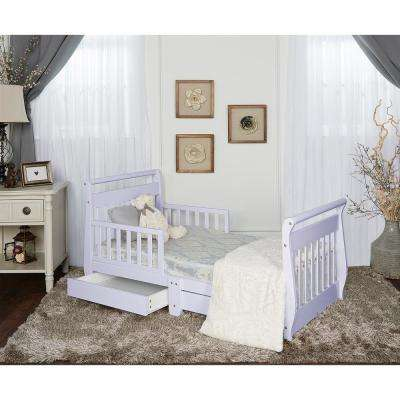 Lavender Ice Toddler Adjustable Sleigh Bed with Storage Drawer