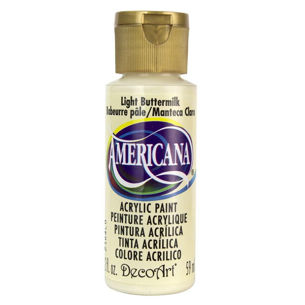 Americana 2 oz. Light Buttermilk Acrylic Paint